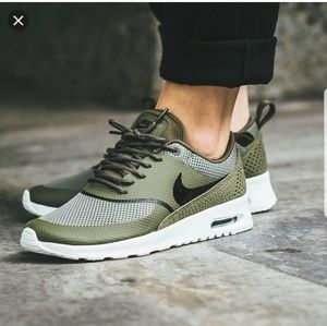 purchase cheap classic style pretty cheap nike air max thea khaki green off 53% - www.siteworxtn.com